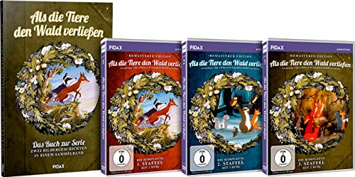 Pidax Gesamtedition: Als die Tiere den Wald verließen - Staffel 1 + 2 + 3 + Das Buch zur Serie