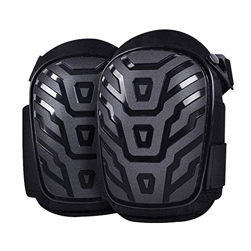 JHDUID Professional Knee Pads Work Gel Knee Pads Heavy Duty for Construction Flooring Gardening and Cleaning Best Style Knee Pads for Comfort Protection and Durability Knee Brace Men Women,Black