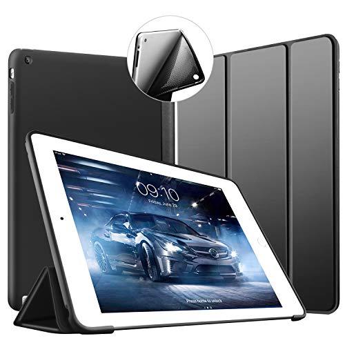 VAGHVEO Custodia per iPad 2, iPad 3 e iPad 4, Ultra Sottile e Leggere Magnetico Case [Auto Svegliati/Sonno] con Morbido TPU Soft Silicone Smart Cover per Apple iPad 2/3 / 4, Nero