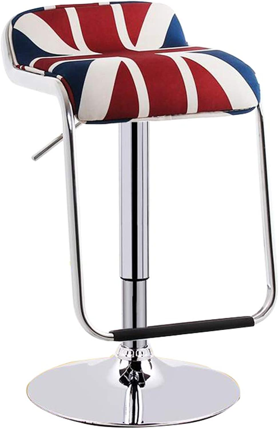 redating Bar Stool with Soft Cushions, Height Adjustable, Metal Footstool and Breakfast Bar, Counter, Kitchen and Home (color   Rice Flag)