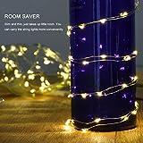 LEDGLE 8er Stück LED Lichterkette Batterie Kupfer Drahtlichterkette Warmweiß 1.2M&24LEDs Lichterketten Weihnachten Batteriebetrieben wasserdichte Lichter Flasche Dekoration - 9