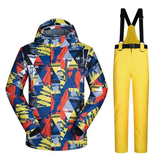 BERYLSHOP Chaqueta y Pantalones de esquí for Hombres Traje de Nieve Chaqueta de esquí Descente for Hombres (M-XXXL)