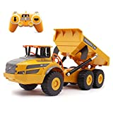 Fistone RC Dump Truck 1/26 Scale 2.4G Remote Control Articulated Truck Construction Car Electronic Simulation Engineering Vehicle Toys for Kids Boys