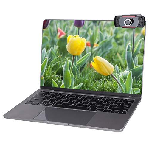 Xuzuyic Cámara Web HD 1080P, cámara de computadora USB con micrófono estéreo,...