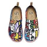 UIN Chaussures Femme Confort, Toile Chaussures de Voyage Imprimées Baskets pour...