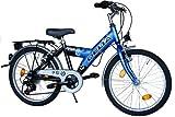 DELTA Kinderfahrrad 20 Zoll Fahrrad Shimano 6 Gang Kettenschaltung StVZO tauglich Blau