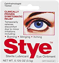 Stye Sterile Lubricant Eye Ointment | Ophthalmologist Tested | 0.125 FL OZ