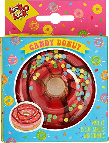 Look-O-Look 10% Tasty Candy Donut 130g - Unique Handmade Gift - Kids Birthday Party Bag Filler