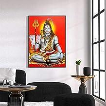 KWzEQ Dios hindú póster Pared Lienzo Arte Mural hindú Sala decoración del hogar Cartel,Pintura sin Marco,30X45cm