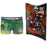 Marvel Avengers - Calzoncillos con bolsa de regalo, colección oficial Freegun – Hombre multicolor S