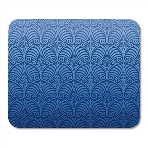 AOHOT Mauspads Damask Nouveau Pattern Baroque Floral Jugendstil Artnouveau Medieval Mouse pad 9.5' x...