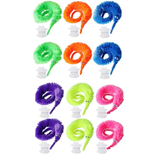 Bonbela Gusano mágica Juguetes 12 Piezas de ondulación Fiesta de Carnaval Fuzzy Chueco favorece el Regalo de los niños