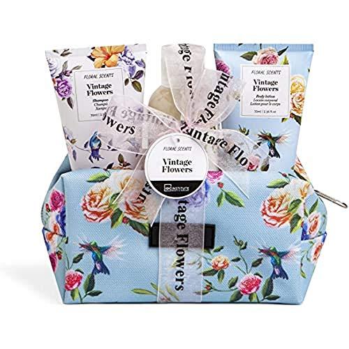 IDC INSTITUTE Vintage Flowers 3 Pcs Cosmetic Bag 360 g