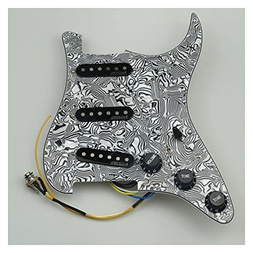 Pastillas de Guitarra Pickups De Guitarra Preweguard PickGuard Single Coil Pickup Tipo De 7 Vías Pantallo Completamente Cargado para Stratocaster Guitar