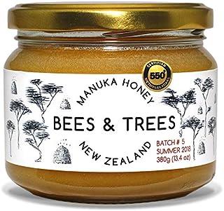 Bees & Trees 500+ MG 100% Raw New Zealand Manuka Honey, 380gm