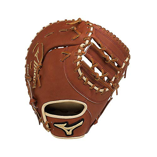 Mizuno GPS1 300FBM Pro Select Fist Base Baseball Mitts, Right Hand Throw, Brown 1st Base, 13