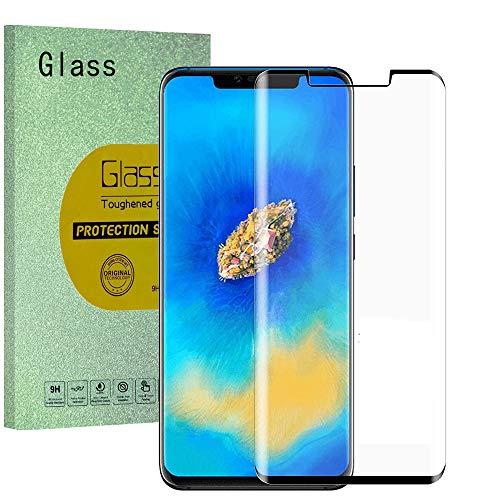 HUUH [1 Unidades] Huawei Mate 20 Pro Protector de Pantalla, Cristal Templado Vidrio Templado,Bordes de Arco 5D,Grosor:0,33 mm,dureza de 9 H,transmitancia de Grado óptico(Negro)