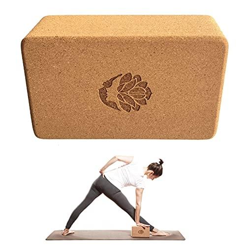 Piedra de yoga de corcho natural, antideslizante, de alta densidad, para principiantes.