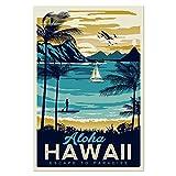 Aya611 Stadtbild Poster Vintage Wandkunst Montauk Hawaii