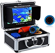 Eyoyo Portable Underwater Fishing Camera Waterproof 1000TVL Video Fish Finder 7 inch LCD Monitor 12pcs IR Infrared Lights for Ice Lake and Boat Fishing (30m Cable)