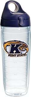 Tervis 1231507 Kent State Golden Flashes Logo Insulated Tumbler with Emblem and Navy with Gray Lid 24oz Water Bottle Clear