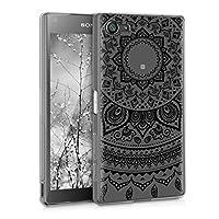 kwmobile 対応: Sony Xperia Z5 Compact ケース - スマホカバー TPU シリコン 携帯 保護 耐衝撃 インド太陽デザイン