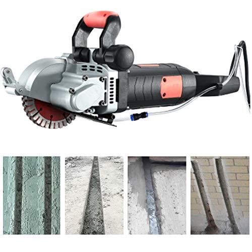 Huanyu 5500W Mauernutfräse 133mm Schlitzfräse Mauerfräse 7500rpm Mauerfrase Max. Schlitztiefe 40mm Wandfräse für Ziegel Beton Brick Granite Marble (1 Maschine mit, 5 Sägeblätte)