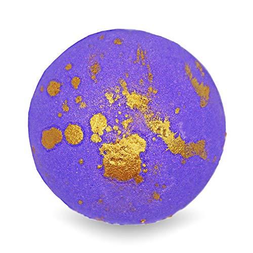 BIG Fizzy Bath Bomb Bollywood - Riesen-Badekugel (240 g / 8.5 oz) | orientalischer Duft, Goldpuder