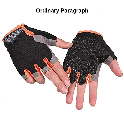 Men and Women Half Finger Cycling Gloves Breathable Mesh Non-Slip Gel Bicycle Cycling Gloves,B-8,L