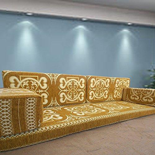 Handgefertigt Boden Sofa-Set, Arabisch Majlis, Arabisch Jalsa, Boden Platz Couch, Boden Kissen, Oriental Boden Platz, Wasserpfeife Bar Möbel, Wohnzimmer Dekoration, Kelim Sofa-Set