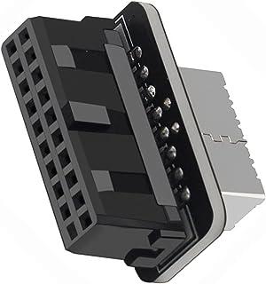 Kesoto Adaptador de cabeçalho USB 3.1 tipo E para USB 3.0 19P/20P