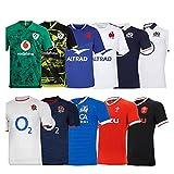 LQWW 2021 Nuevo Uniforme de Rugby Match France Inglaterra Irlanda Capacitación Jersey Camiseta (Color : B7, Size : 4XL)