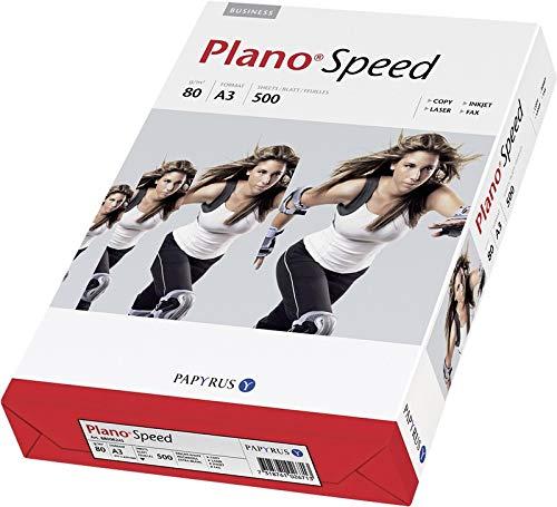 Papyrus PLANO Speed A3 (297 × 420 mm) wit papier inkjetprinter - papieren inkjetprinter (A3 (297 × 420 mm), universeel, wit, 80 g/m2, 2500 vellen)