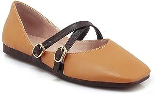 BalaMasa Womens APL11866 Pu Mary Jane Heels