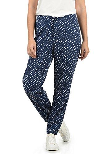 BlendShe Amerika Damen Stoffhose Lange Hose Bequeme Loose Fit Hose, Größe:M, Farbe:Peacoat dot (14021)