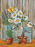 5D Diamond Painting Kits for Adults, DIY Round Full Drill Diamond Art Kit, Daisy Crystal Rhinestone Embroidery Pictures, Diamond Arts Craft for Home Office Wall Decor and Relaxation 11.8x15.74 inch