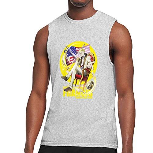 Vdaras, maglietta da uomo Francis Scott Key Fitzgerald Bungou Stray Dogs senza maniche t-shirt grigio L