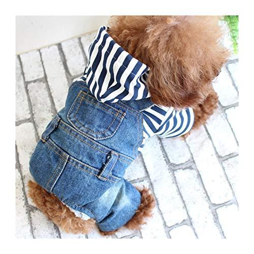 W-L 2017 wiosna i lato pluszowy bichon pies ubrania kowboj trykot w paski cztery nogi dżinsy ubrania dla psów ubrania dla zwierząt domowych (kolor: Dżinsy, rozmiar: S)