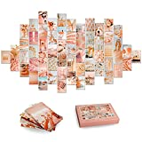 60Pcs Photo Collage kit for Wall Aesthetic Picture 4x6 Inch   Boho Peach Aesthetic Room Decor for Bedroom Aesthetic   Photo Collection Collage Dorm Decor for Teen Girls   Wall Art Beach Collage
