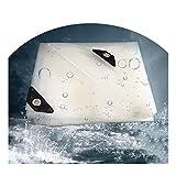 Lona MYAN Impermeable, Toldo Transparente Plástico Pabellón con Ojales Resistente Al Desgarro para Bricolaje Invernadero, Terraza, Multiusos (Color : Clear, Size : 1X1m)