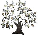 khevga Decoración de pared de metal, decoración de pared, salón, árbol