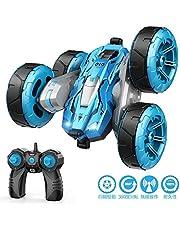 ラジコンカー Tomight リモコンカー 360度回転 四輪駆動 4WD スタントカー 2.4GHz無線 両面走行特技 USB充電式 LED搭載 こども向け 簡単操作 玩具 贈り物