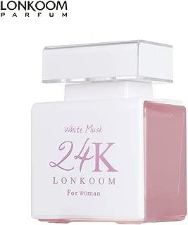 LONKOOM Ladies Perfume Valentines Day Gift 24K WHITE MUSK Eau De Parfum Floral-Woody Fragrance For Women 100ml