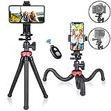 Fantaseal - Trípode Flexible para teléfono móvil, Smartphone, Selfie, Mini trípode de Viaje, portátil, Soporte de Mesa, Compatible con iPhone Samsung Webcam Youtuber Reivewer Vlog en Directo