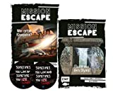Mission Escape - Juego de 2 pegatinas de Escape, ¿Quién salva Kleopatra? & huye del Olymp + 2 pegatinas Escape