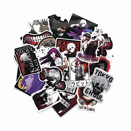 YZFCL Pegatina para cuaderno de guitarra Tokyo Ghoul Kinkiken Tokio Ghoul Kinkiken para equipaje, 52 unidades