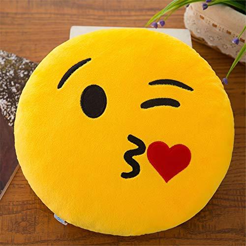 yywl Cojín de 32 cm con relleno, suave, emoticono sonriente, peluche, juguete, funda de almohada