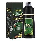Hspemo Champú para teñir el cabello, champú para colorear el cabello, para hombres y mujeres, color natural y vegano, 500 ml