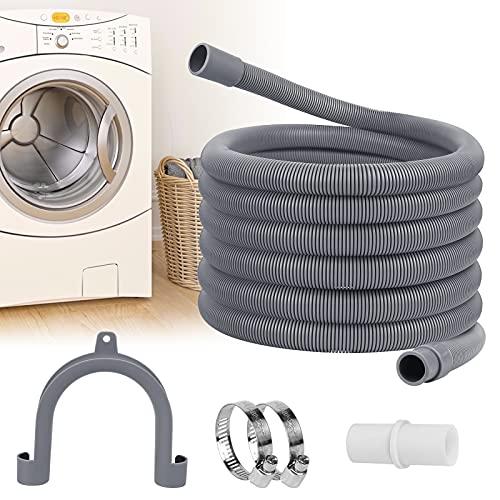 Manguera de desagüe de 3 m para lavadoras, lavavajillas, extensión universal para lavavajillas