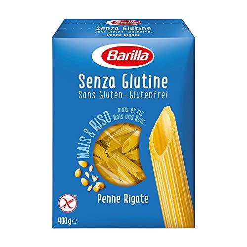 Barilla Pasta Penne Rigate Senza Glutine, Pasta Corta di Mais Bianco, Mais Giallo e Riso Integrale, 400 gr